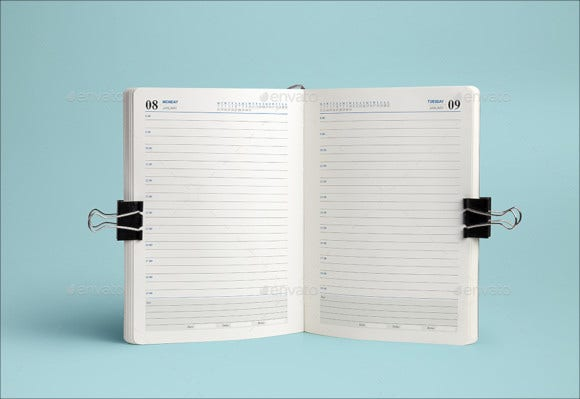 daily planner calendar template1