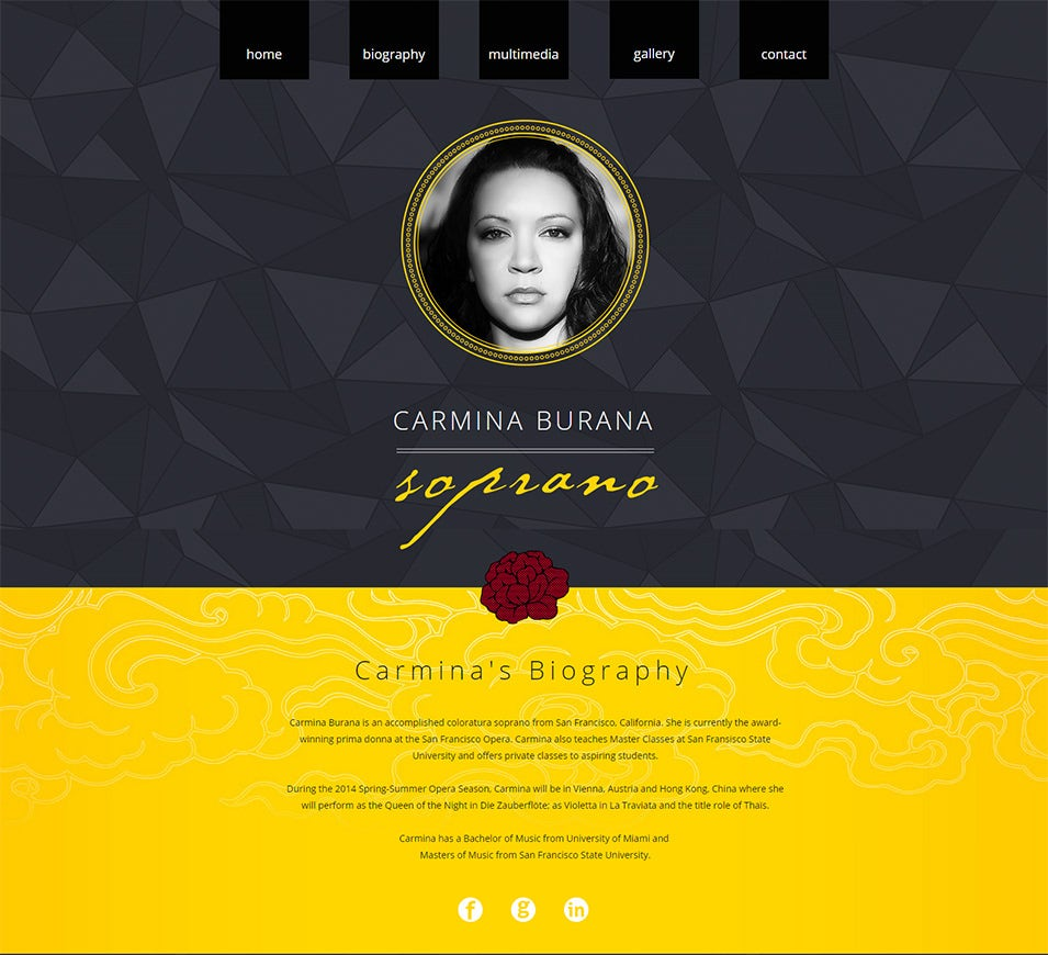 actor website templates  u0026 themes