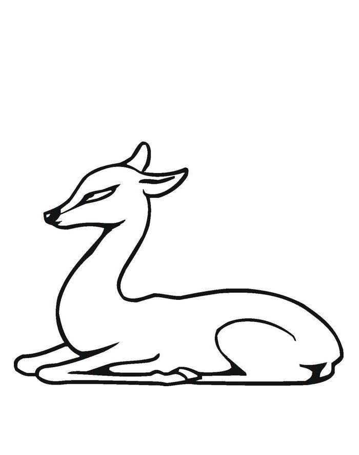 deer mask coloring page