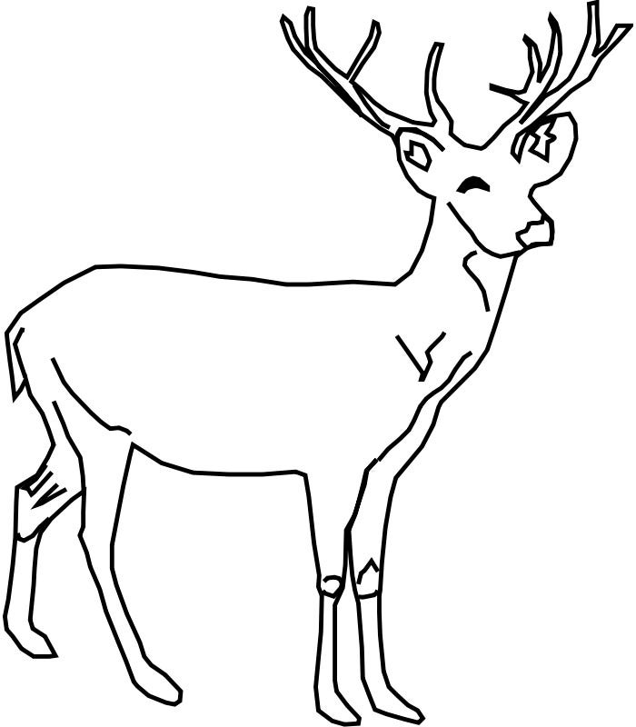 deer template to print