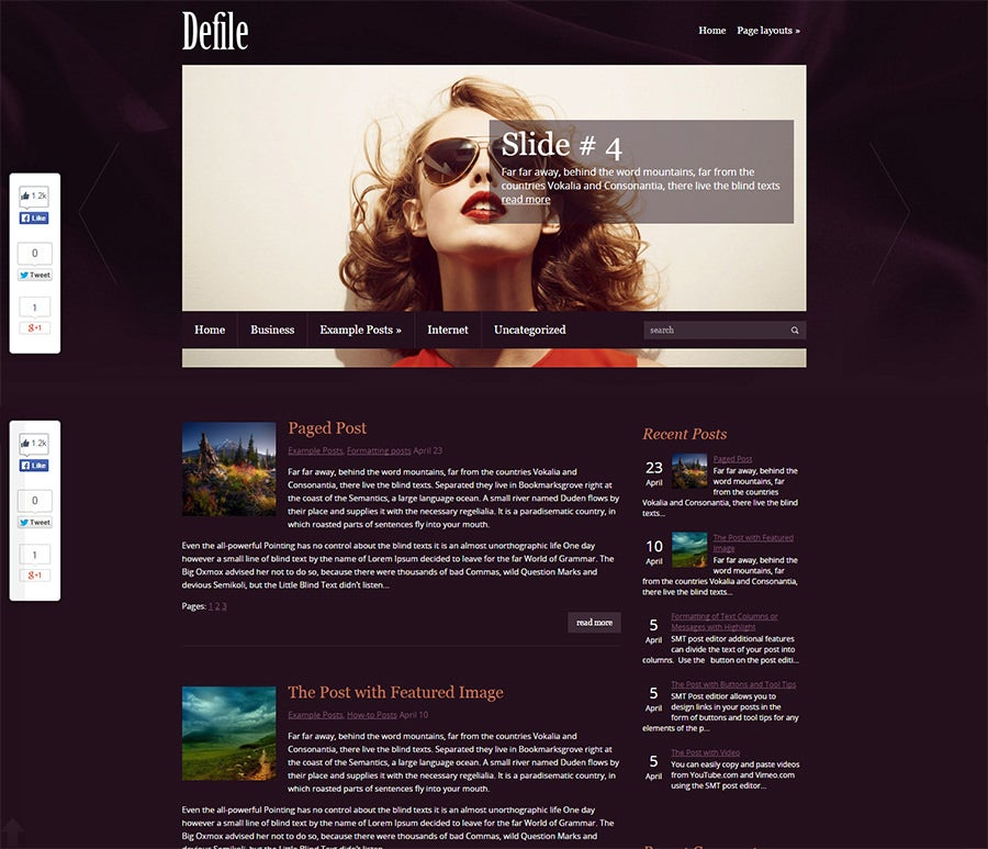 WordPress theme for fashion website