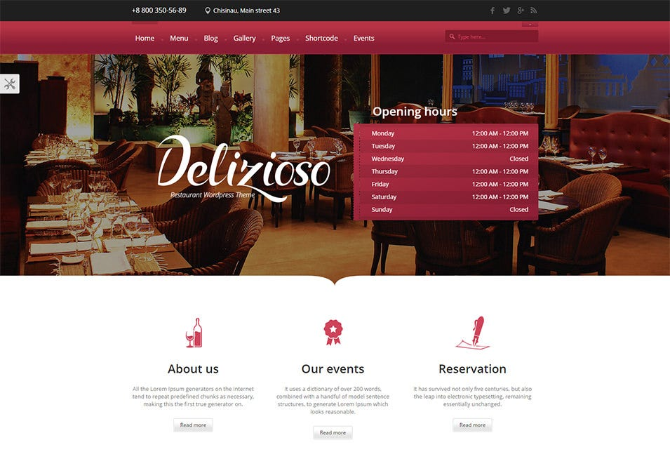 delizioso responsive wordpress theme