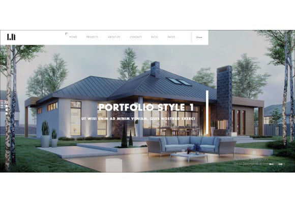 domik creative responsive architecture wordpress theme