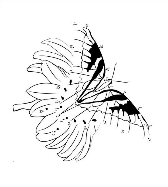 dot to dot butterfly template