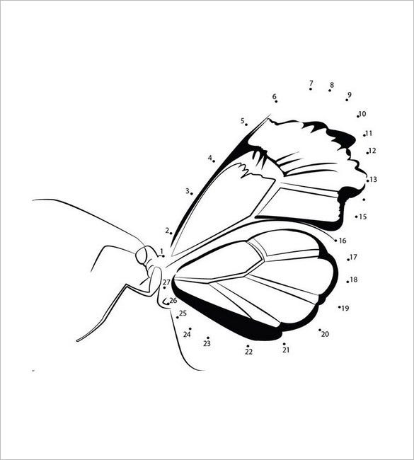 dot to dot butterfly template2