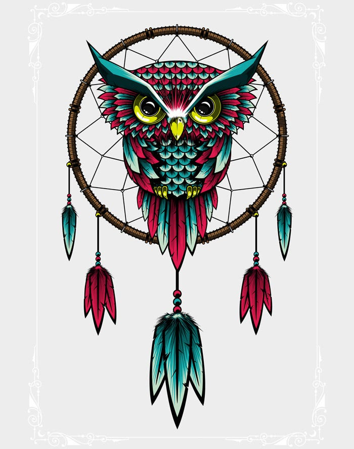 dreamcatcher owl artwork