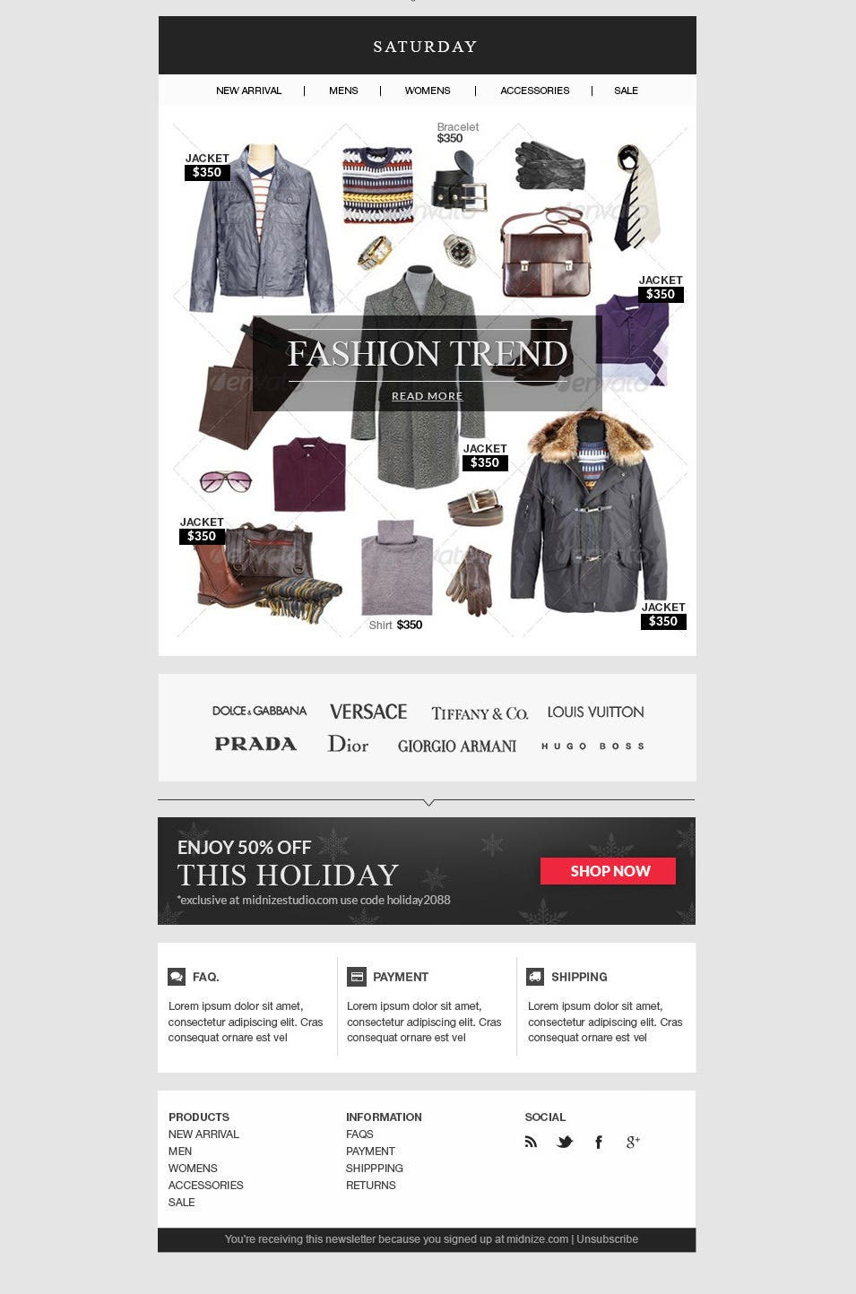 Best Email Template Designs For Download Purchase Free - Ecommerce email templates free download