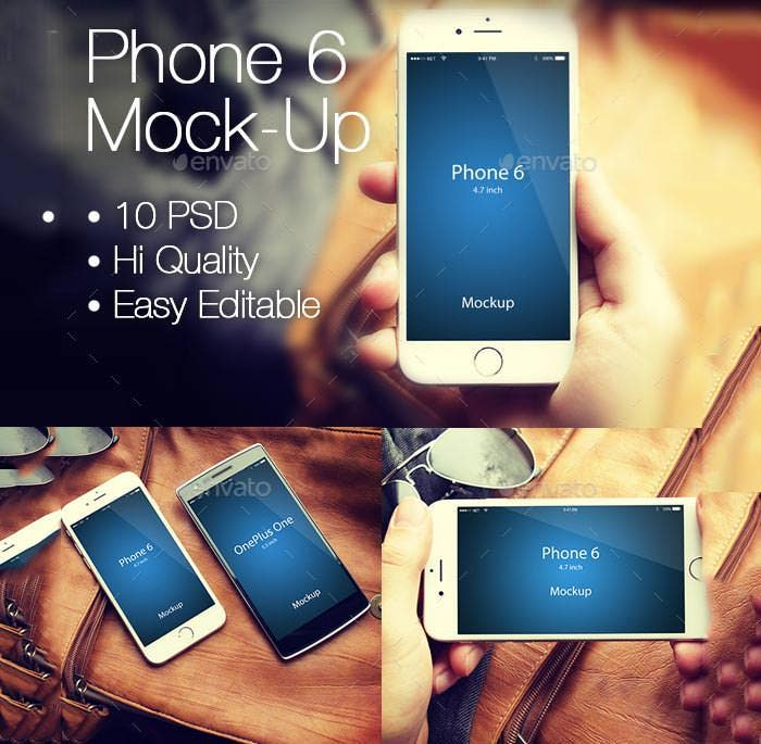 easy editable phone 6 mockup
