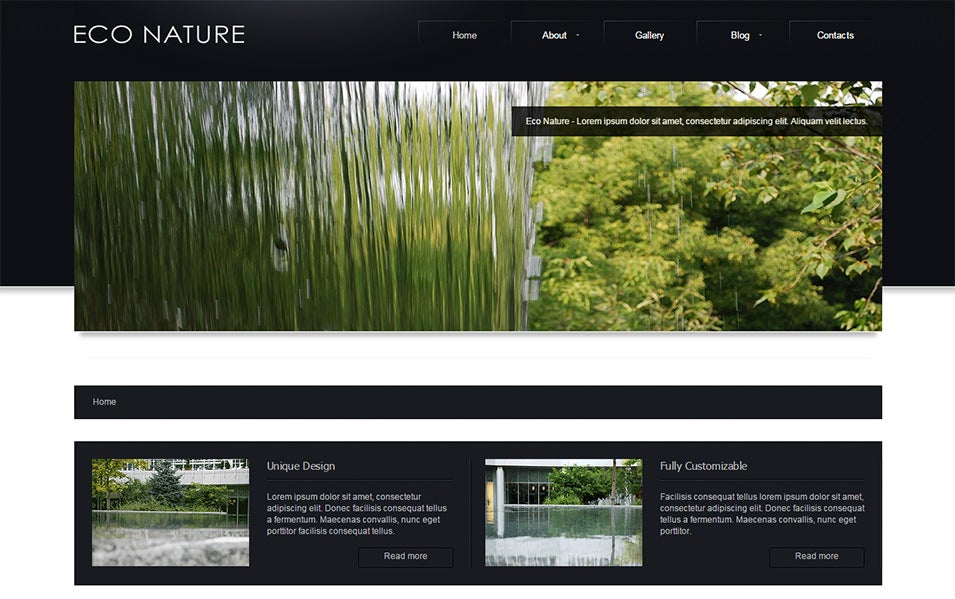 eco nature joomla bootstrapped template