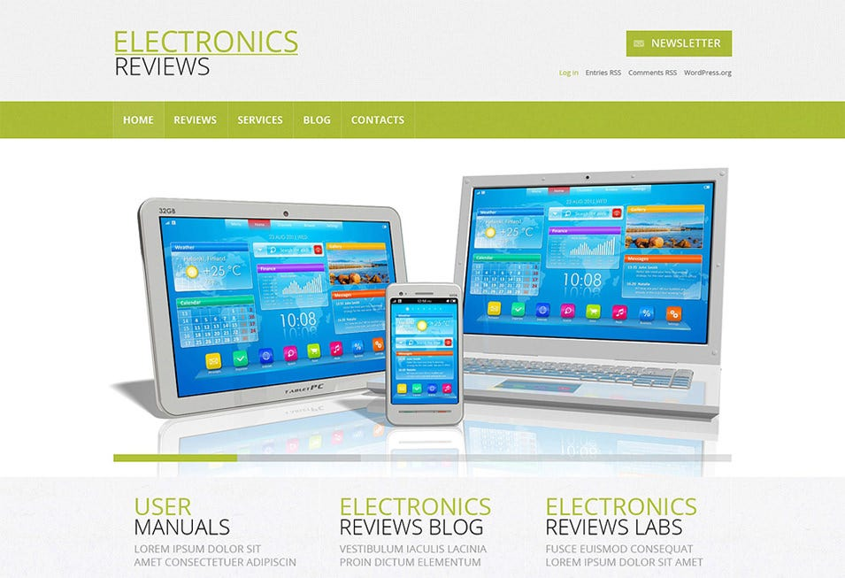electronics review wordpress theme