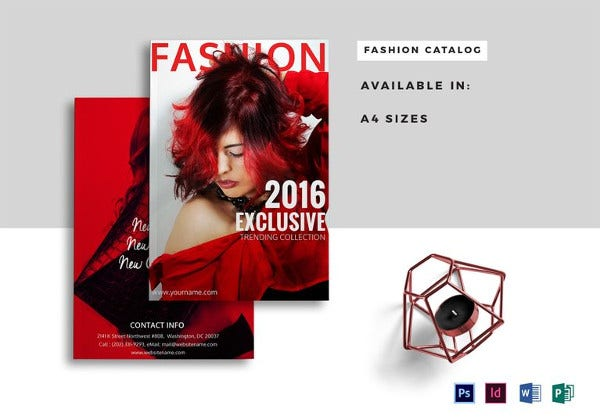 elegant fashion catalogue template in psd