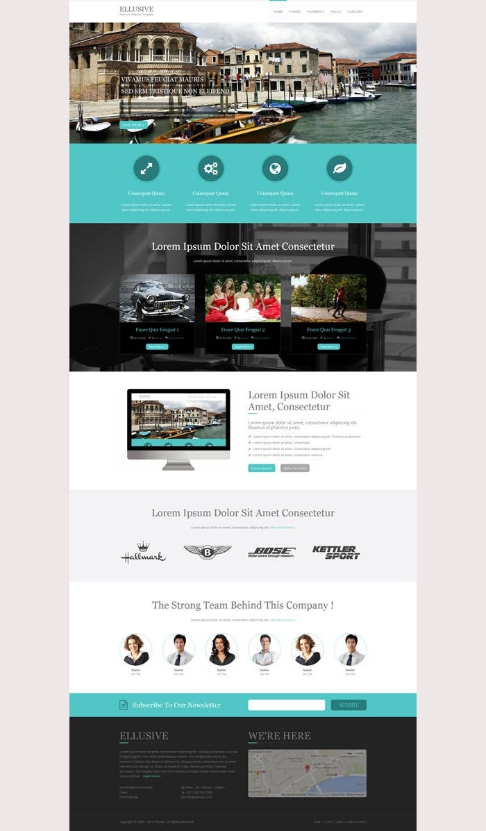 Ellusive Premium Website Template