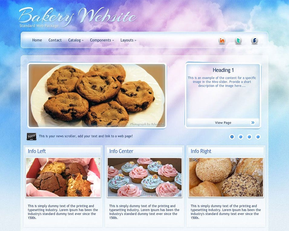 eternal bakery wordpress theme