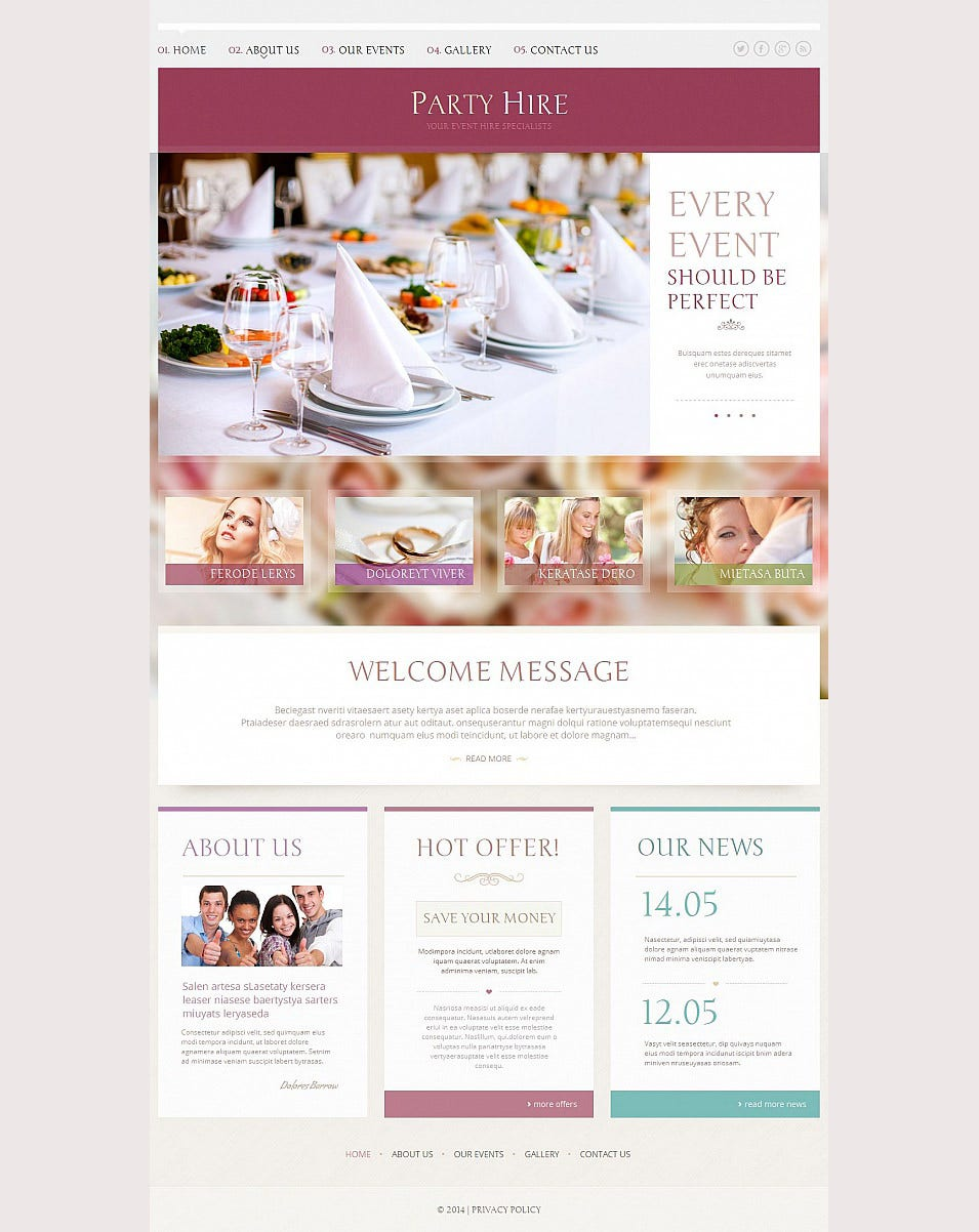 33 event planning website themes templates free Planner websites