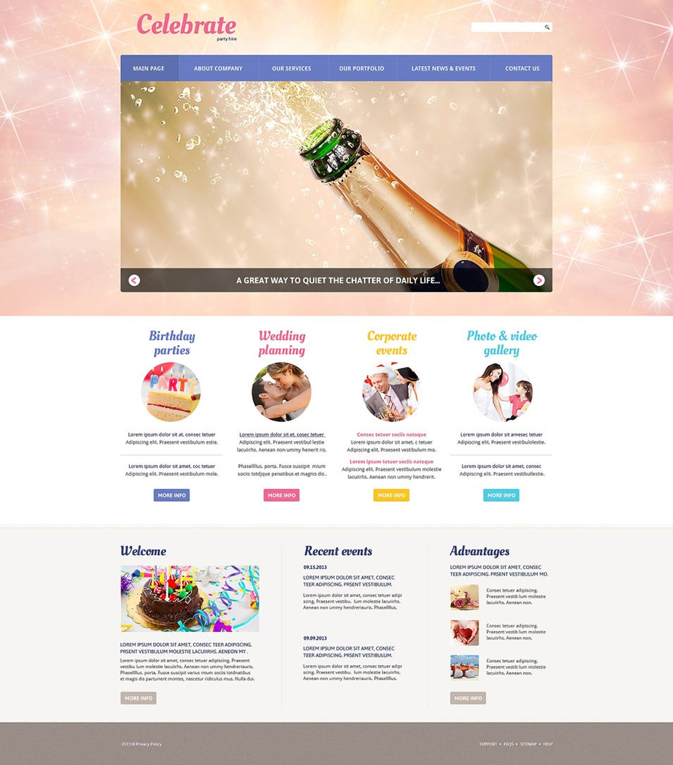 33 event planning website themes templates free for Planner site