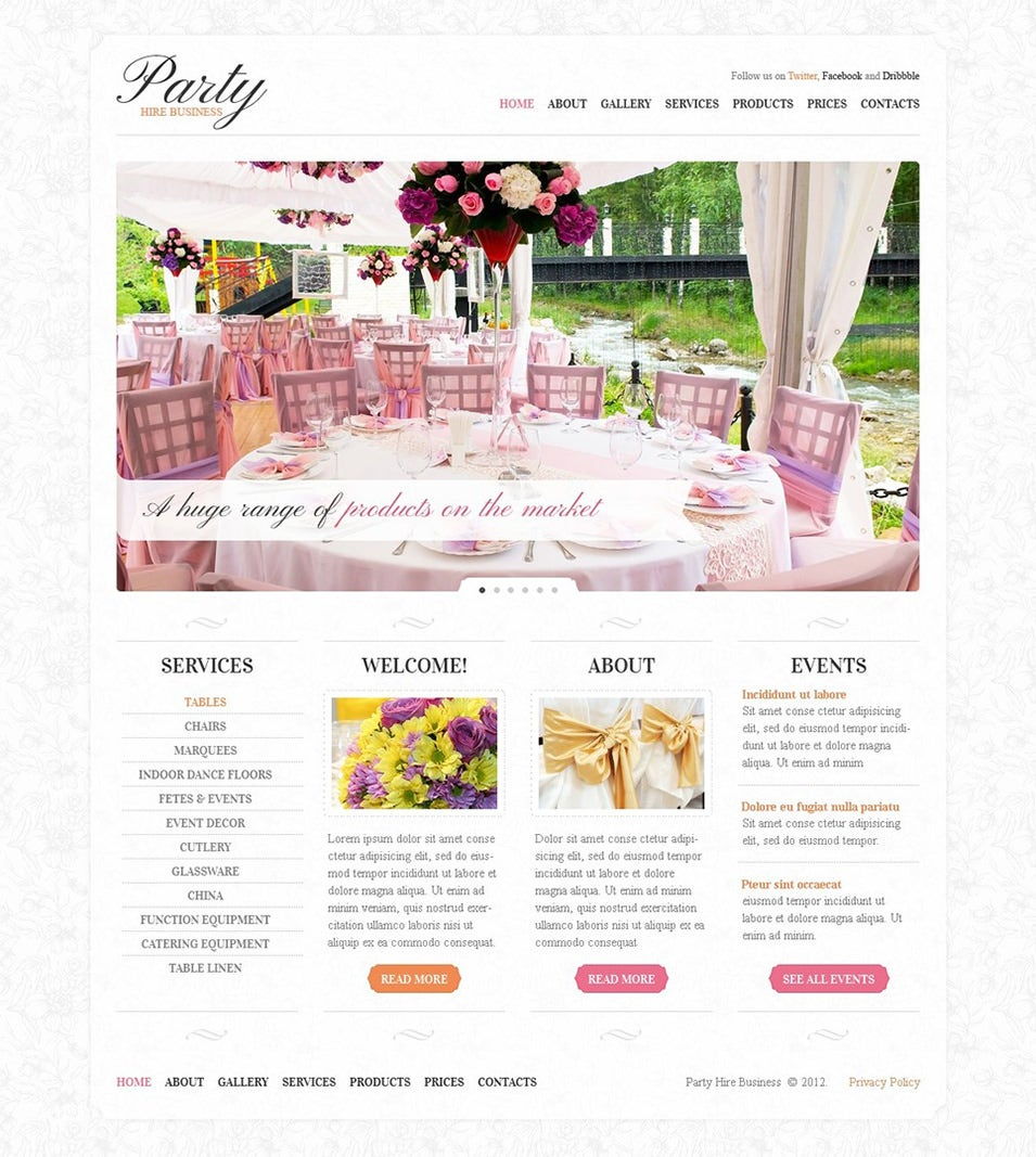 21 event planning website themes templates free for Planner site