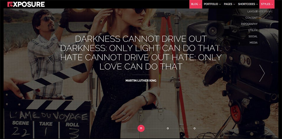Exposure, Fullscreen Responsive Photography theme