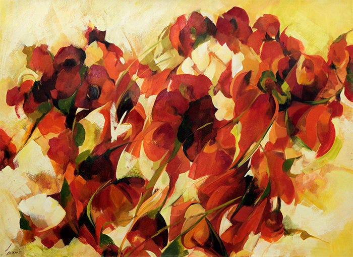 expressionist flower painting