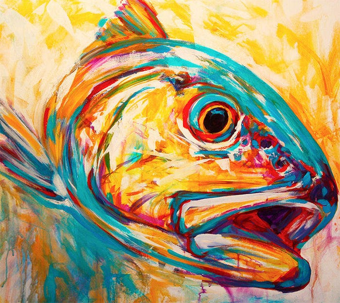 expressionist redfish