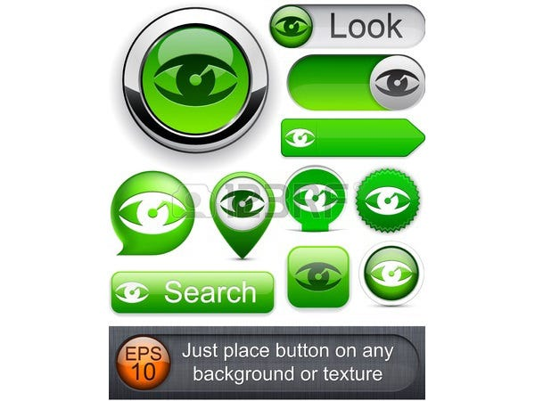 Eye web green buttons