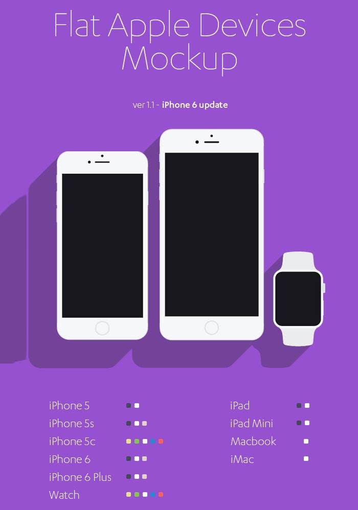 free flat apple devices mockup iphone 6 update