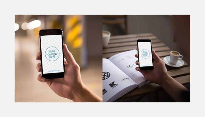 free iphone 6 psd 12x mockups