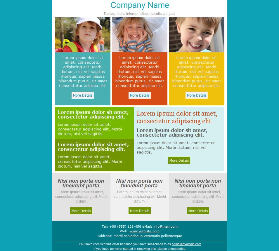 Best Email Newsletter Templates 12 Free PSD EPSAI Format – Templates for a Newsletter