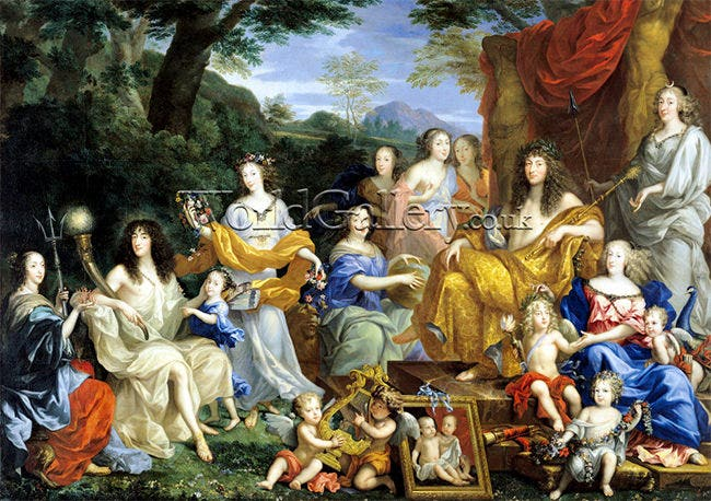 family of louis xiv 1670 art print1