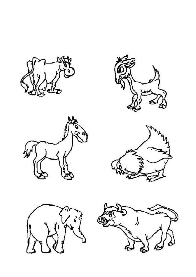 Coloring Pictures Of Barn Animals Coloring Pages