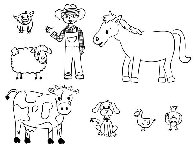 farm animal template animal templates free premium templates