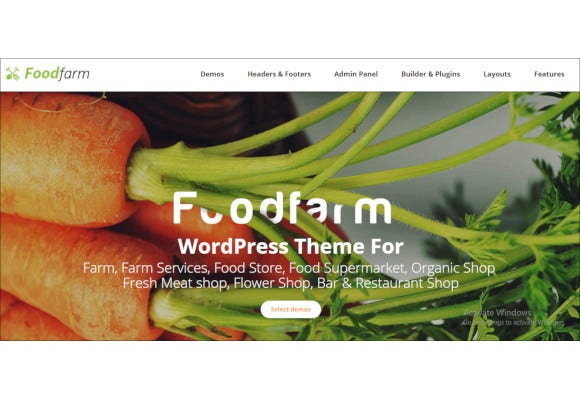 farm farm services and organic food store wordpress theme
