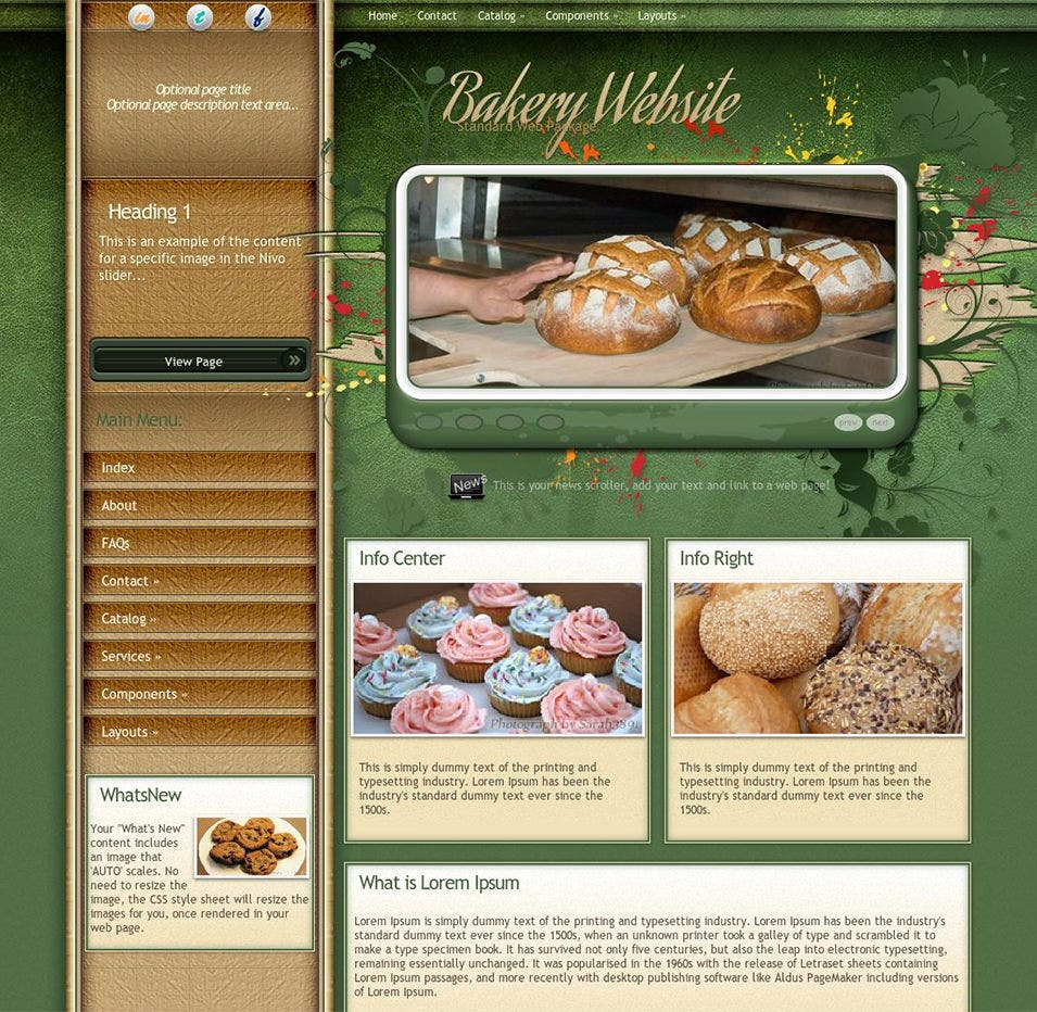 fascinate bakery wordpress theme