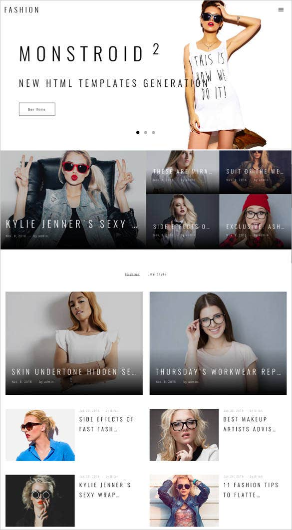 fashion-style-blog-website-template