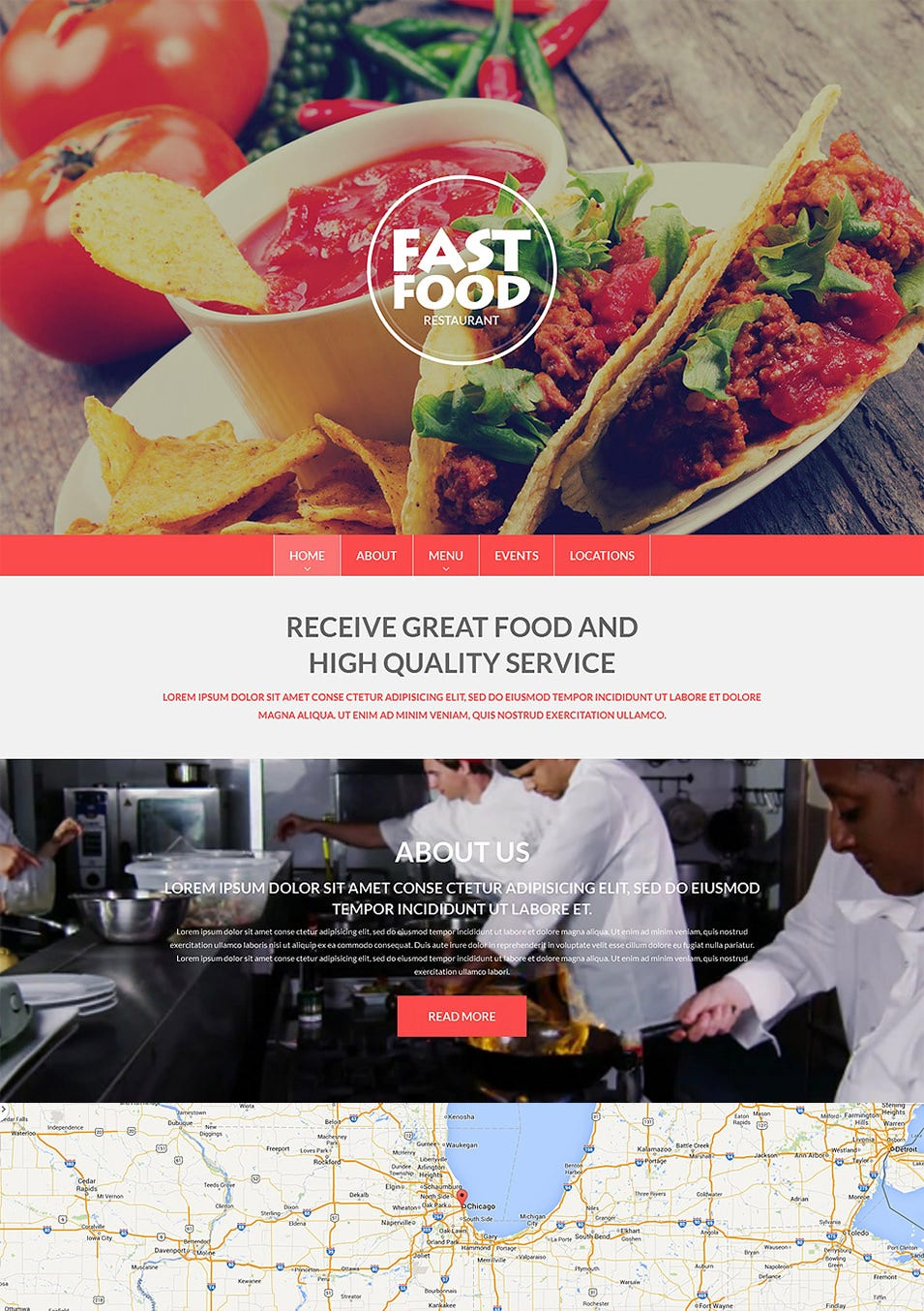 fast food drupal template