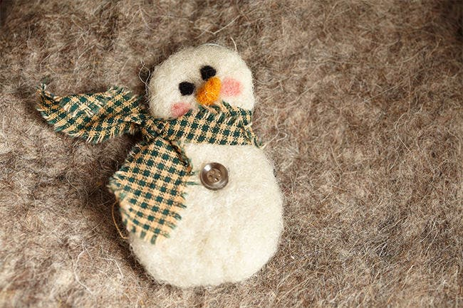felted snowman ornament 2
