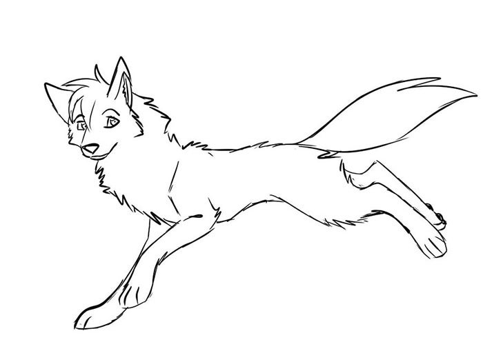 female wolf coloring page