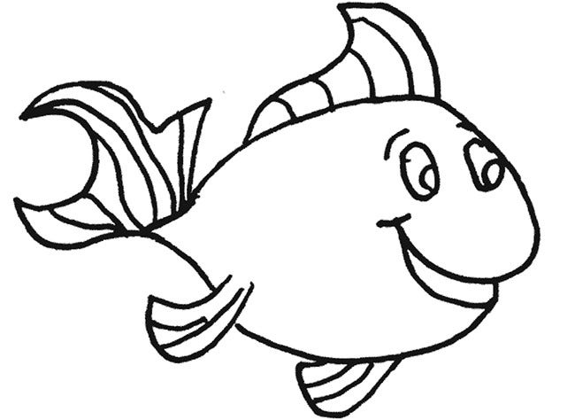 fish coloring page template