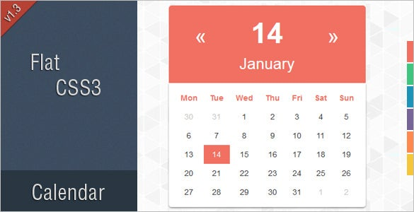 26+ HTML Calendar Templates – Free HTML, PSD, CSS Format Download ...
