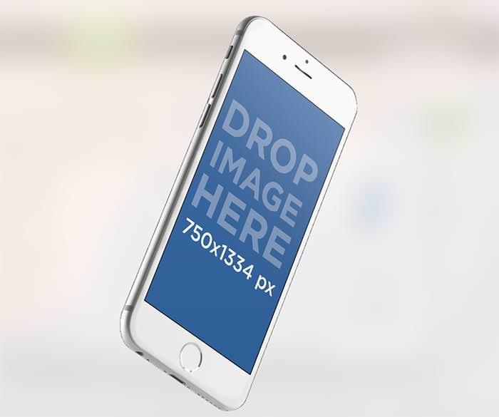 floating iphone 6 mockup