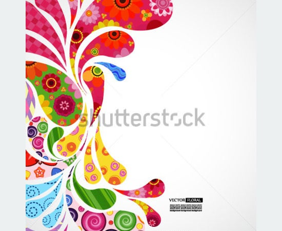 floral and ornamental vector background