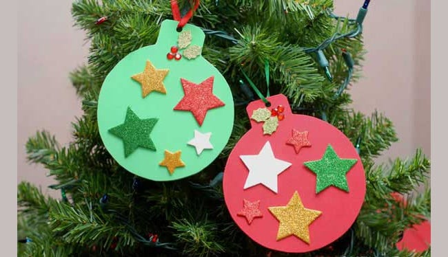 foam christmas ornaments craft