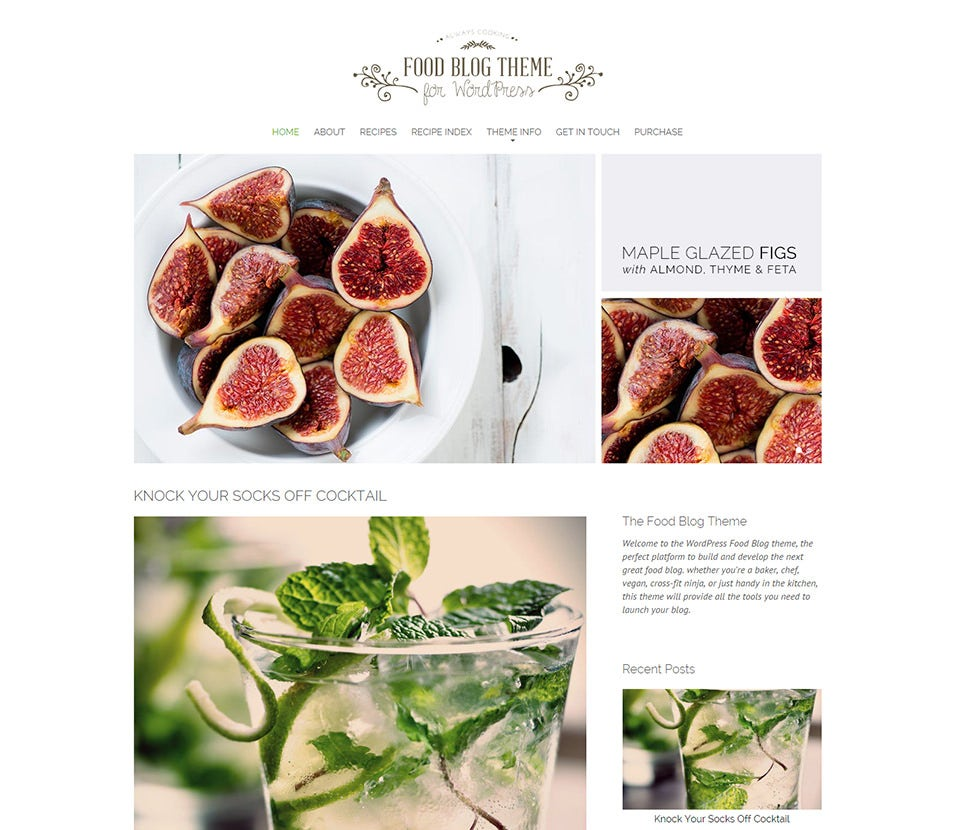 30 best food wordpress themes templates free premium templates food blog free demo download forumfinder Choice Image