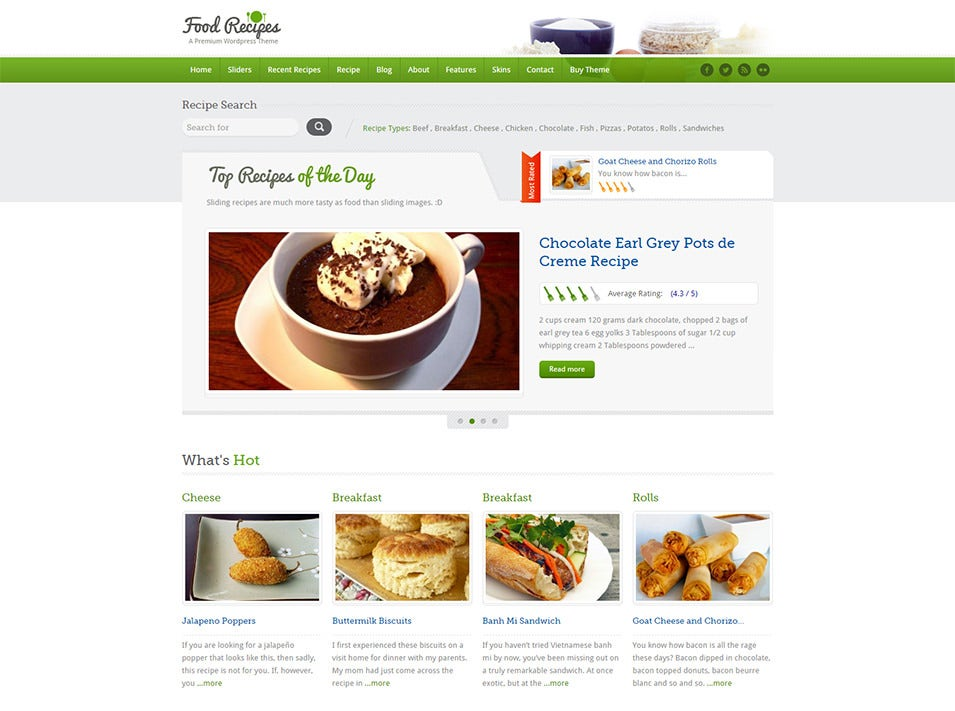 30 best food wordpress themes templates free premium templates food recipes free demo download forumfinder Choice Image