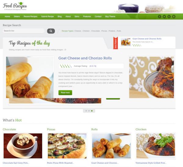 food recipes wordpress theme1