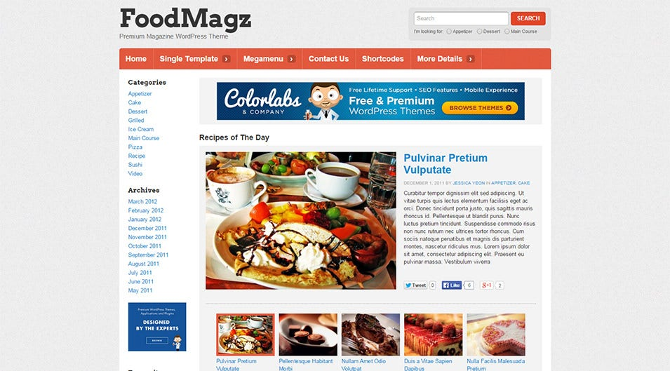 30 best food wordpress themes templates free premium templates foodmagz wordpress theme 69 foodmagz free demo download forumfinder Gallery