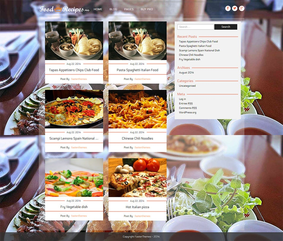 30 best food wordpress themes templates free premium templates foodrecipes free demo download forumfinder Choice Image
