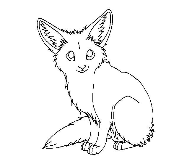 cute baby fox coloring pages coloring pages baby fox coloring - Baby Fox Coloring Pages