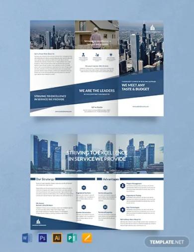 free architecture a3 tri fold brochure