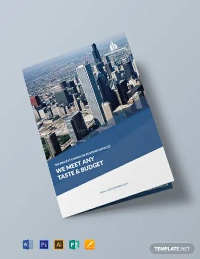free architecture bi fold brochure template