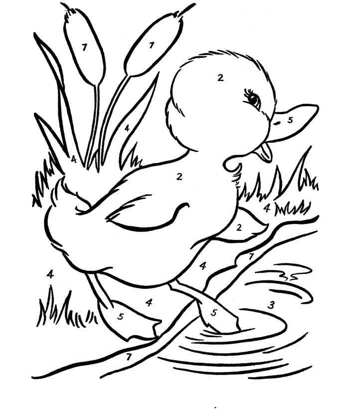 free easter duck template